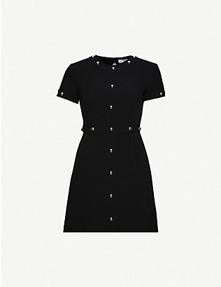 CLAUDIE PIERLOT: Roanne woven mini dress