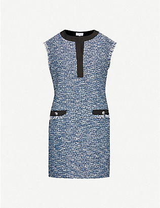 CLAUDIE PIERLOT: Regione woven mini dress