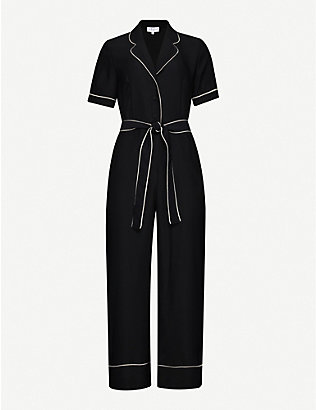 CLAUDIE PIERLOT: James belted woven jumpsuit