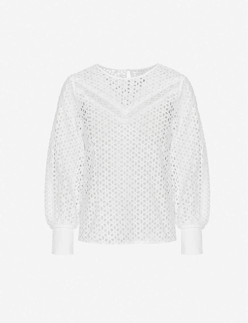 CLAUDIE PIERLOT: Baignadee cotton broderie top