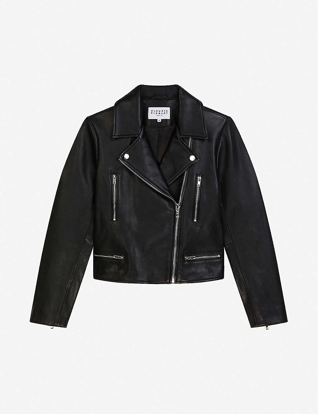 CLAUDIE PIERLOT: Caisa leather biker jacket