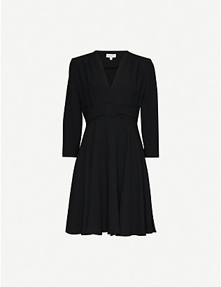 CLAUDIE PIERLOT: Flared A-line crepe midi dress