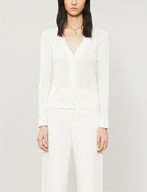 CLAUDIE PIERLOT Mondye cotton-blend cardigan
