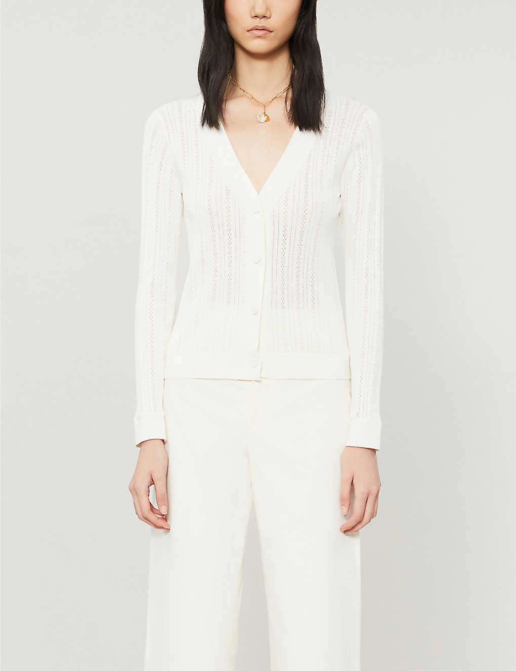CLAUDIE PIERLOT: Mondye cotton-blend cardigan