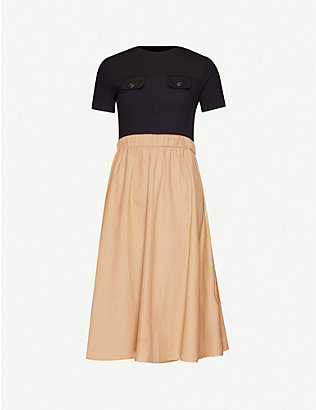 CLAUDIE PIERLOT: Track stretch-cotton midi dress