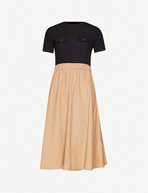 CLAUDIE PIERLOT Track stretch-cotton midi dress