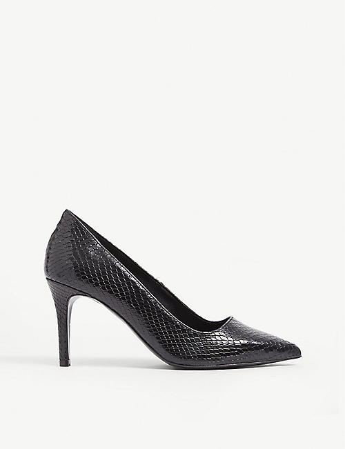 CLAUDIE PIERLOT: Python-embossed leather courts