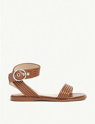 CLAUDIE PIERLOT: Abaccae open-toe leather sandals