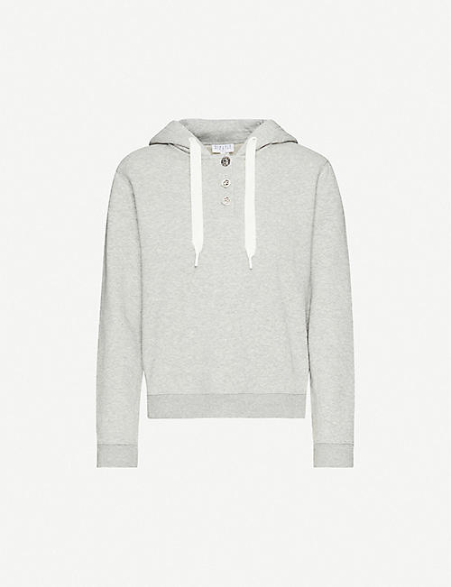 CLAUDIE PIERLOT Relaxed-fit cotton-blend hoody