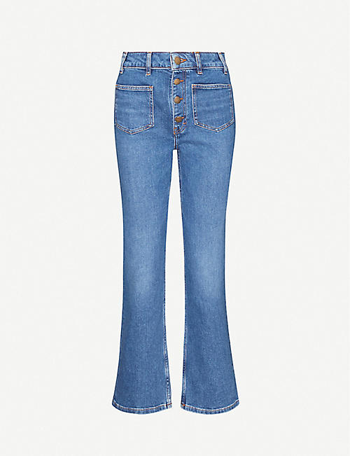 MAJE: Passion slim-fit straight high-rise jeans