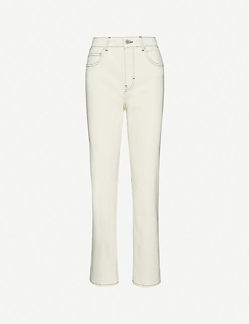 MAJE: Purete slim-fit jeans straight high-rise jeans