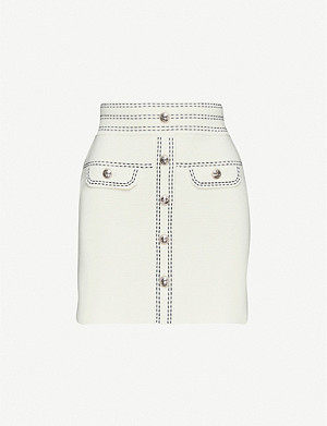 MAJE Jisla knit mini skirt
