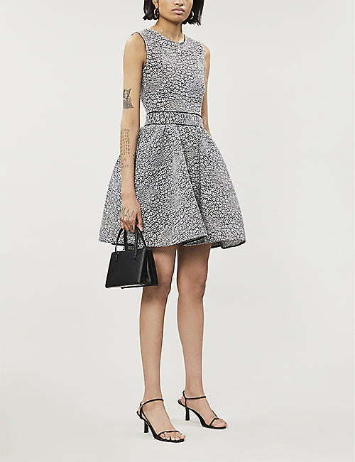 MAJE Reinatta woven mini dress