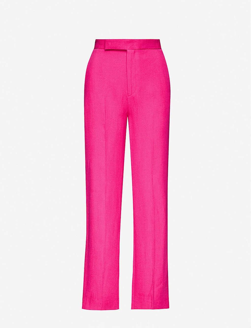 MAJE: Posia straight mid-rise twill trousers