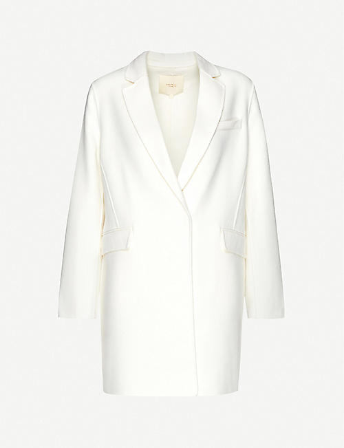 MAJE: Galami single-breasted wool-blend coat