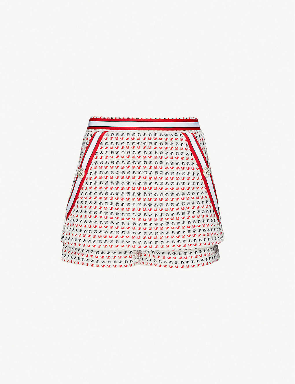 MAJE: Irona high-rise tweed shorts