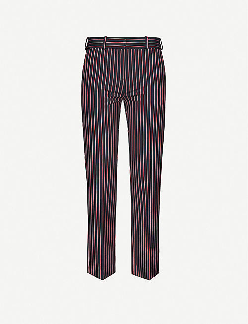 MAJE: Pielda high-rise twill trousers
