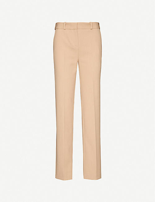 MAJE: Pielsa mid-rise stretch-woven trousers