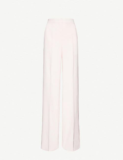 MAX MARA: Ovatta wide high-rise cotton trousers