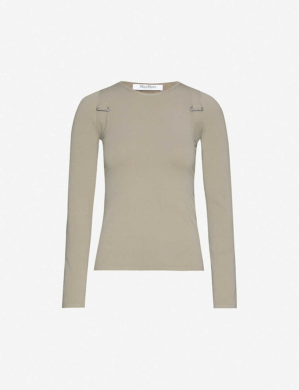 MAX MARA: Villa buckled knitted top