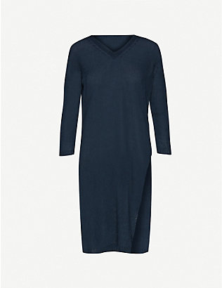S MAX MARA: Corone semi-sheer linen-knit midi dress
