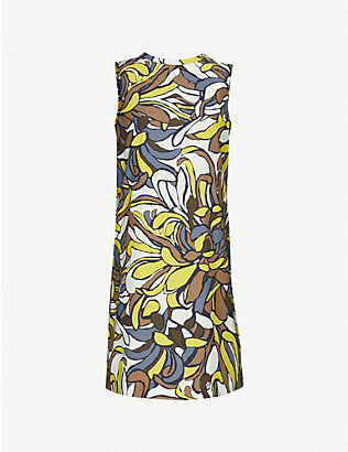 S MAX MARA: Rocco floral-print cotton midi dress