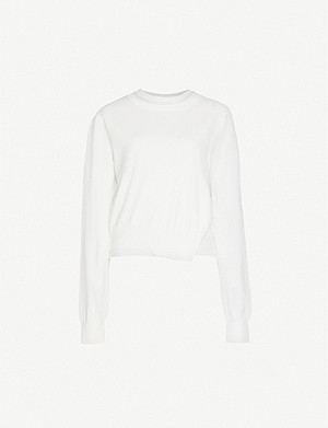 SPORTMAX Ceres overlay-panel cotton-blend jumper