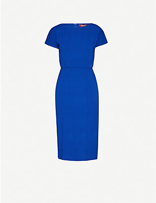 MAX MARA STUDIO: Short-sleeved stretch-jersey midi dress