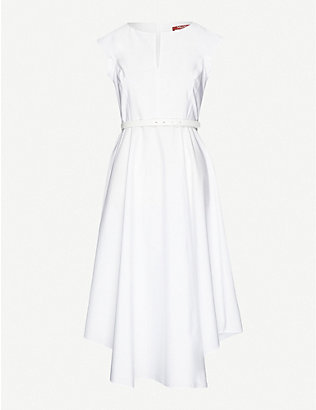 MAX MARA STUDIO: Grecian cotton-poplin midi dress