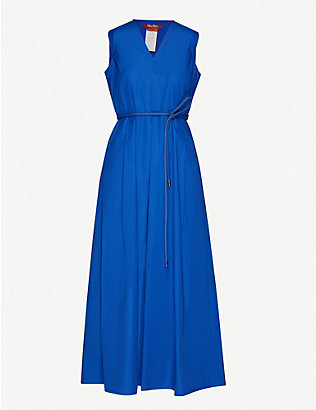 MAX MARA STUDIO: Sleeveless cotton-poplin maxi dress