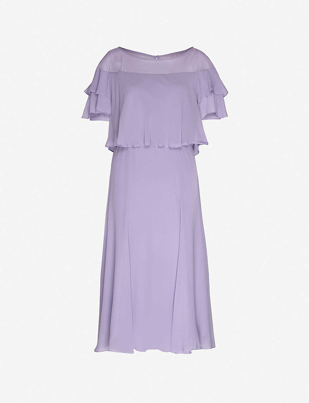 MAX MARA STUDIO: Stiria ruffle-trim crepe midi dress