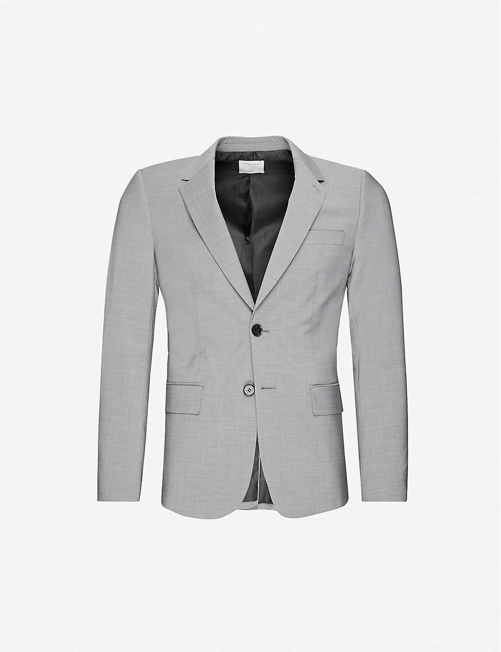 SANDRO: Single-breasted stretch-wool blazer