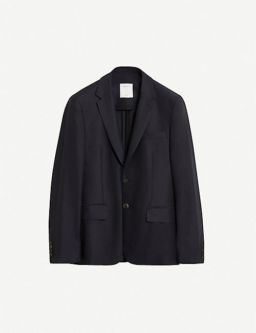 SANDRO: Single-breasted wool blazer
