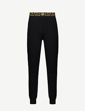VERSACE Graphic-trim stretch-jersey jogging bottoms