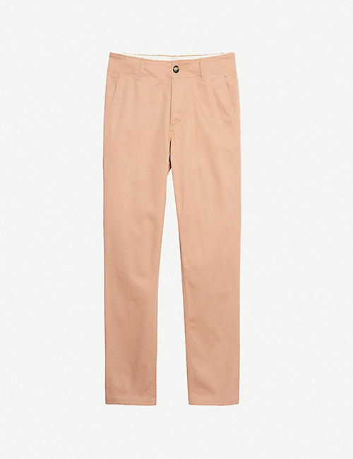 SANDRO: Slim-fit stretch-cotton chinos