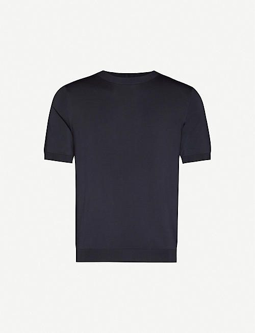 SANDRO Pablo crewneck classic-fit knitted T-shirt