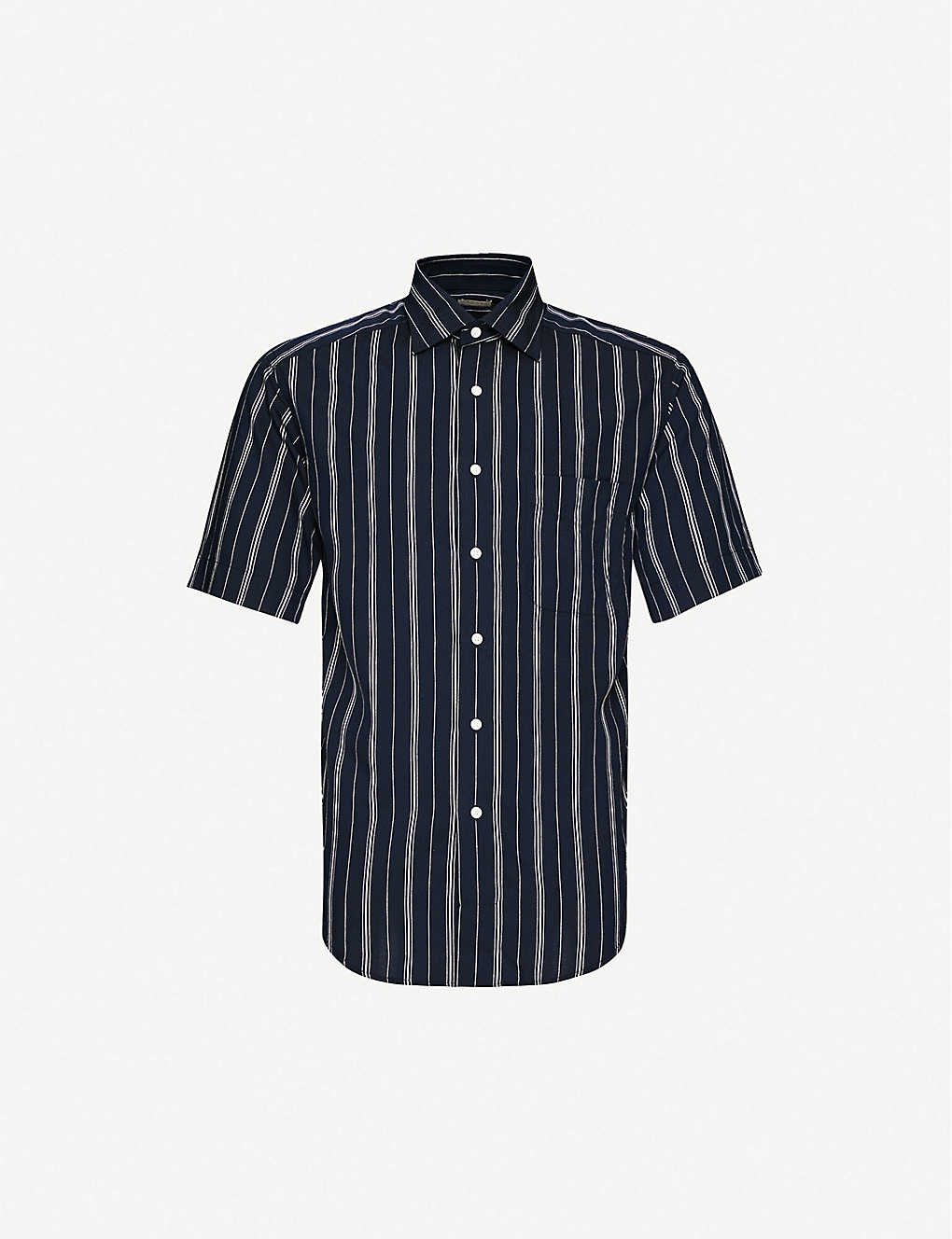 SANDRO: Oversized stripe short-sleeve shirt