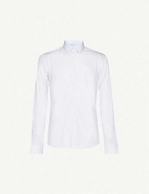 SANDRO: Fine-striped cotton shirt
