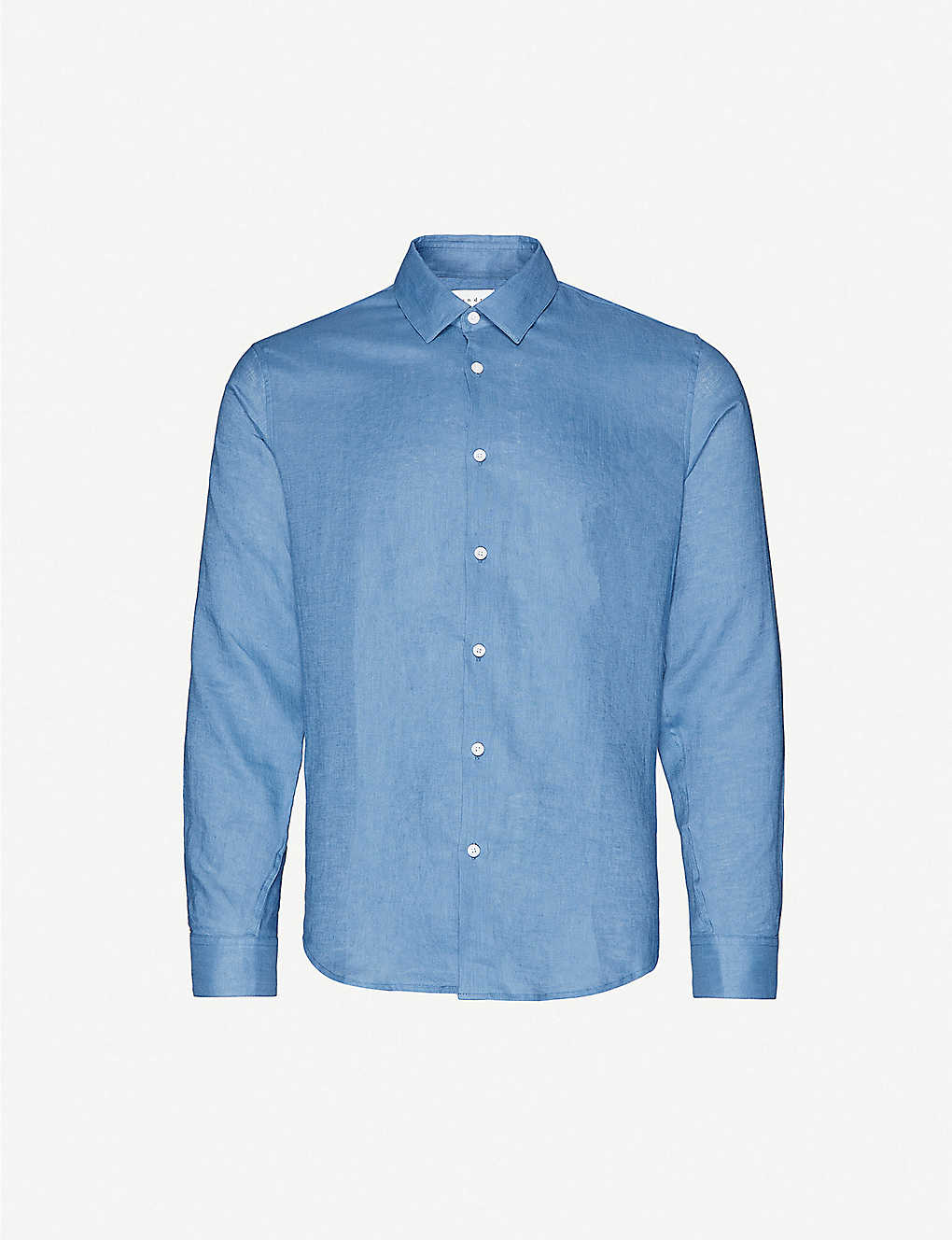 SANDRO: Slim-fit seamless linen shirt