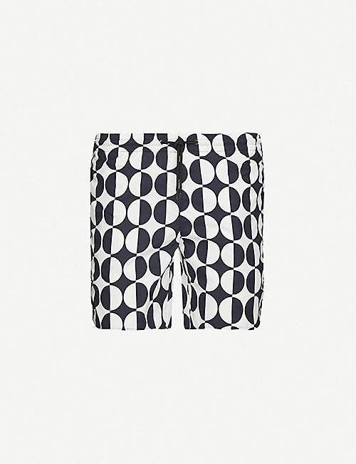 SANDRO: Graphic-print swim shorts