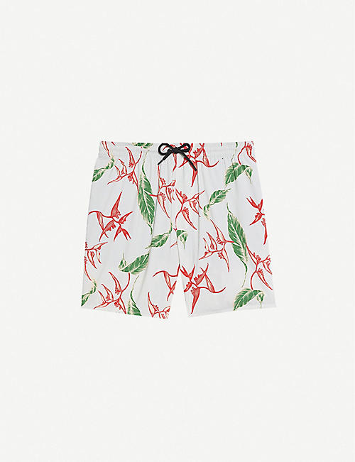SANDRO: Tropical abstract-pattern swim shorts