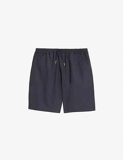 SANDRO: Alpha straight-leg mid-rise cotton-blend shorts