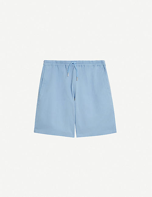 SANDRO: Gamma slim-fit cotton-blend shorts