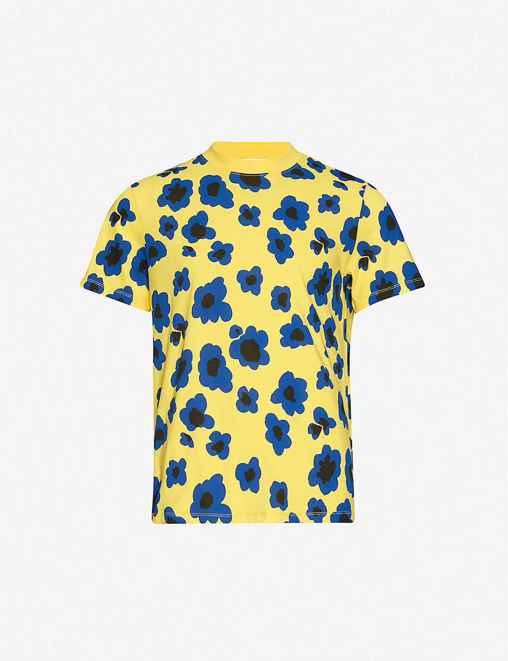 SANDRO: Floral-print cotton-jersey T-shirt