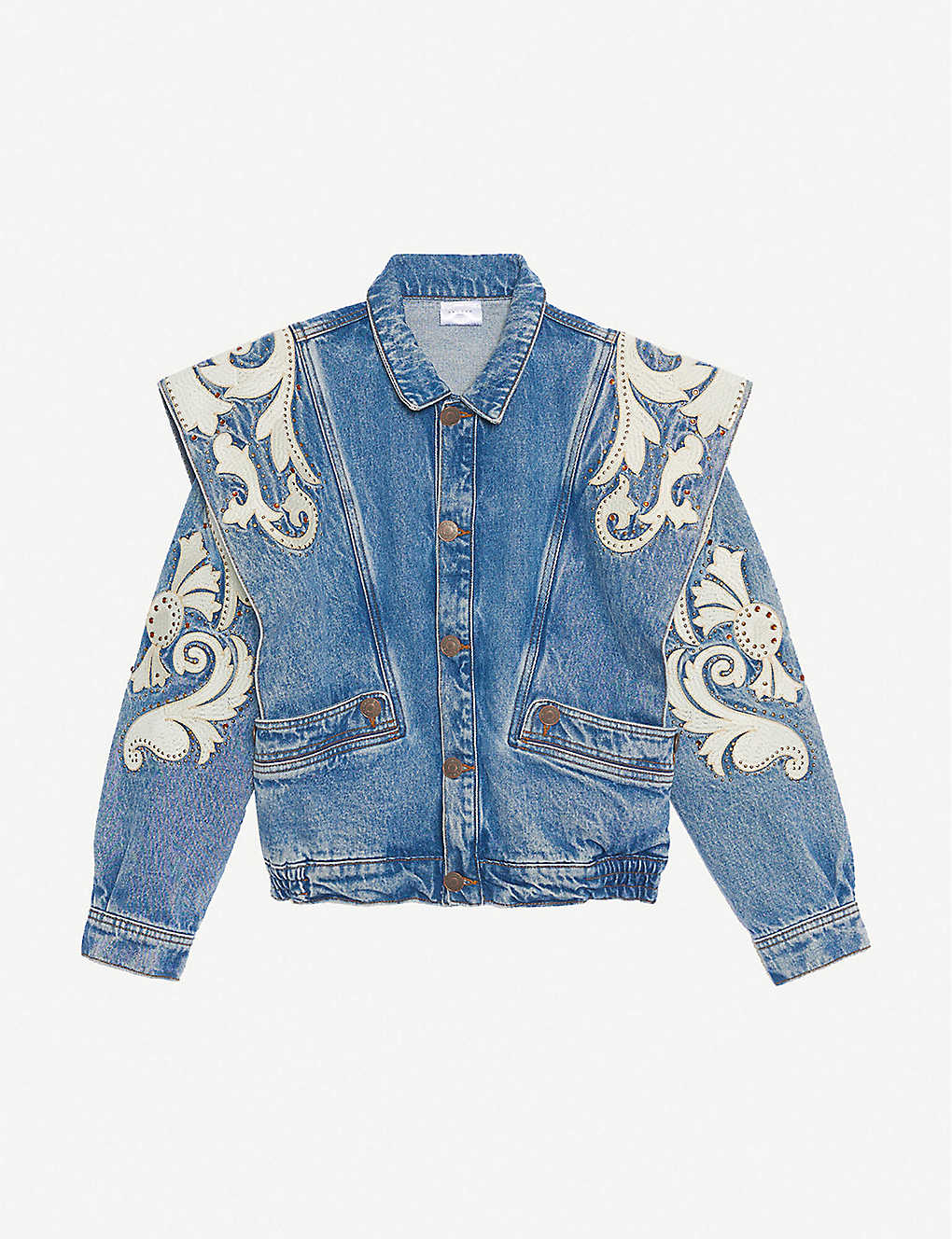 SANDRO: Kevin oversized studded denim jacket