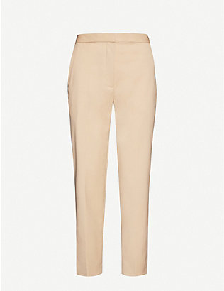 SANDRO: High-rise woven trousers
