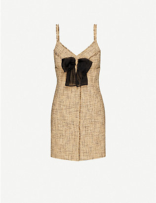 SANDRO: Soane cotton-blend mini dress