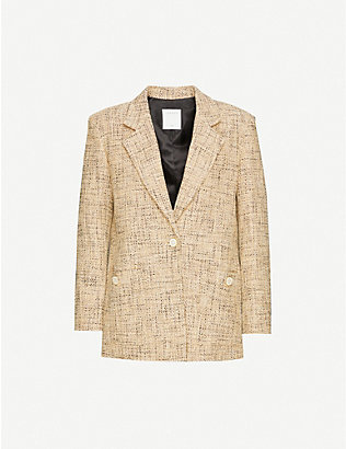 SANDRO: Sone single-breasted tweed jacket