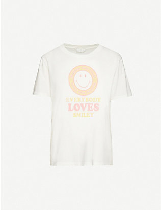 SANDRO: Smile cotton-jersey T-shirt