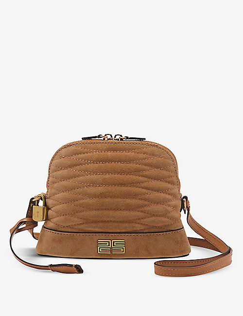 SANDRO: Thelma suede shoulder bag